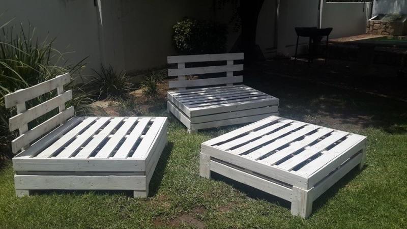 Pallet Wooden Adjustable Outdoor Furniture Set Pallet Furniture