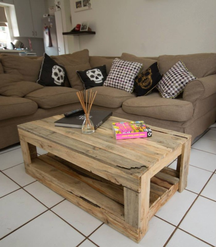 Pallet Wood Made Tables Pallet Furniture Projects