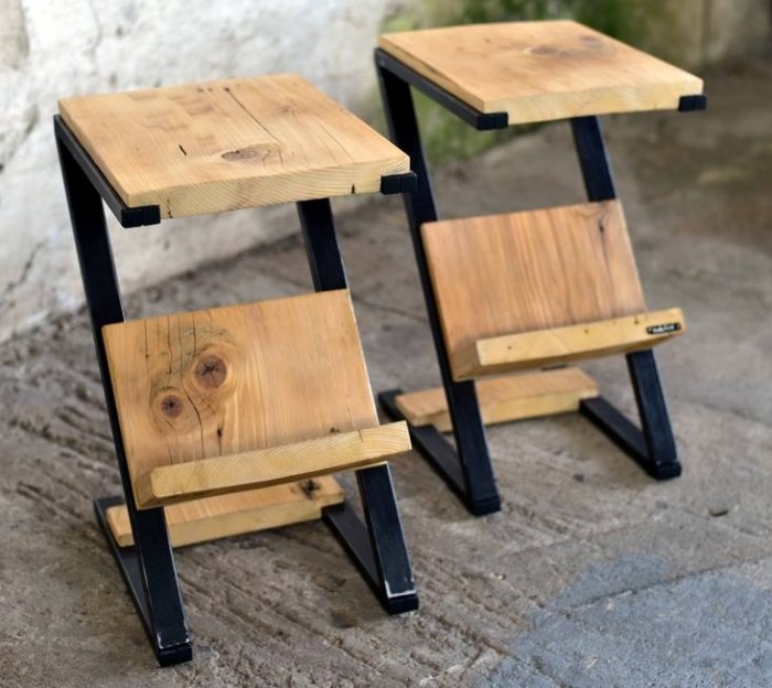 Pallet bedside tables furniture projects