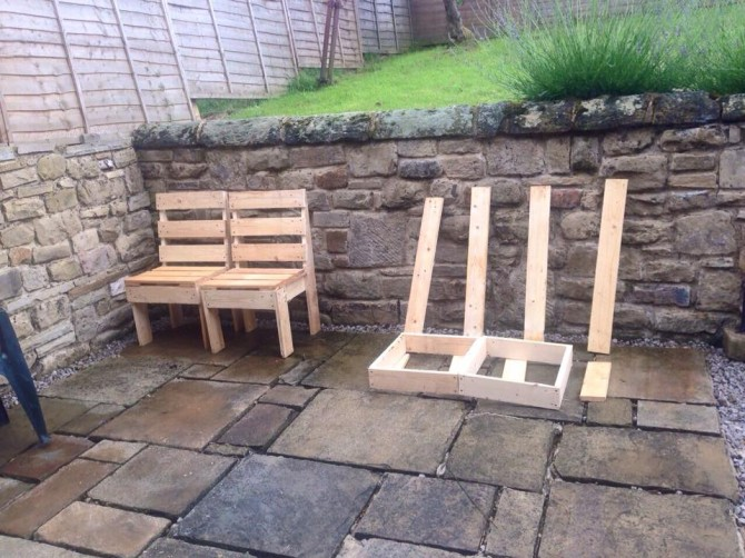 Diy Pallet Wooden Outdoor Furniture Pallet Furniture Projects