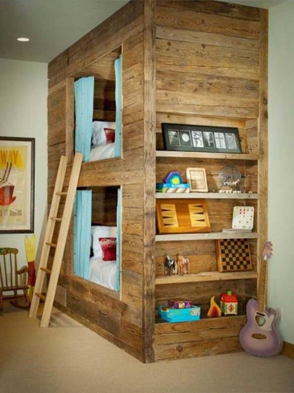 Kids bed houses out of pallets wood pallet furniture for Kids pallet bed