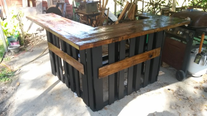 Pallet Wooden Bar Pallet Furniture Projects