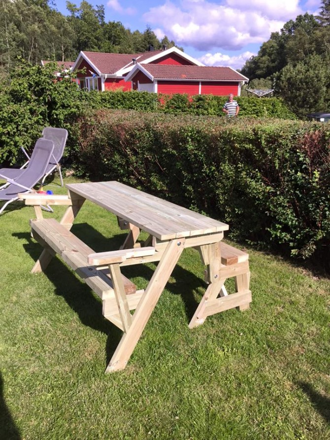 Pallet Wooden Picnic Table Cum Bench