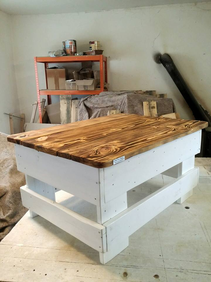 Pallet Wood Coffee Table With Storage Furniture