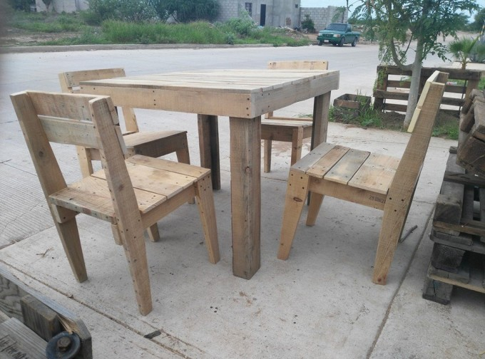 Pallet Outdoor Furniture Set Pallet Furniture Projects