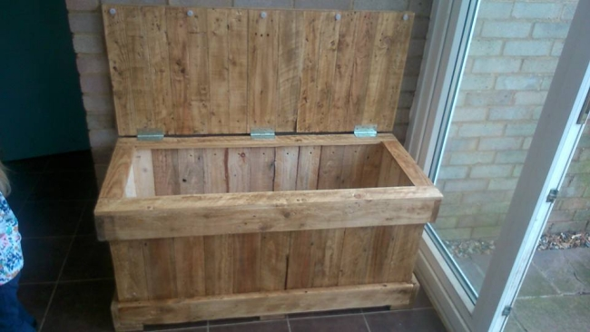 Pallet Wood Storage Chest Pallet Furniture Projects