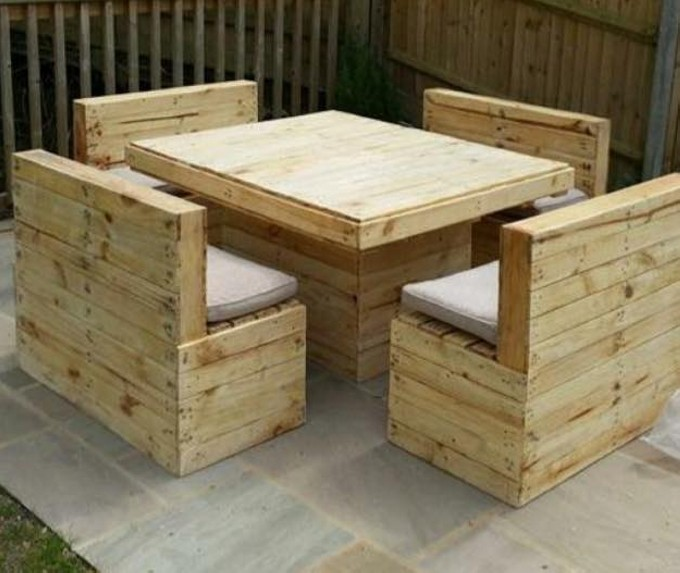 Pallets made outdoor furniture pallet furniture projects for Pallet furniture projects