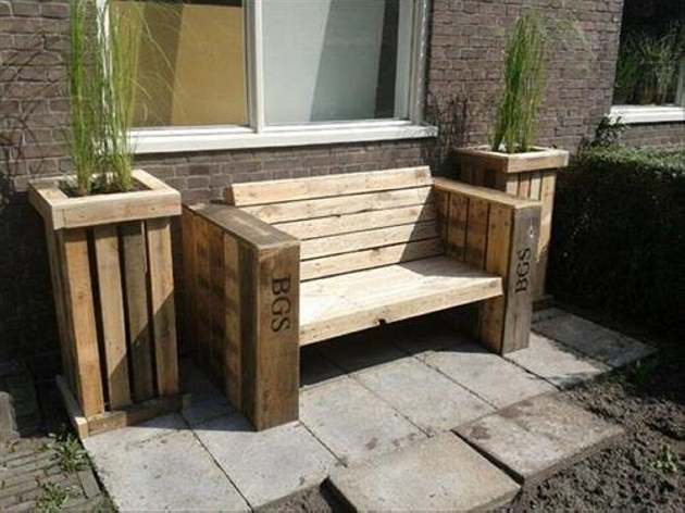 Some more ideas for garden pallets wooden benches: