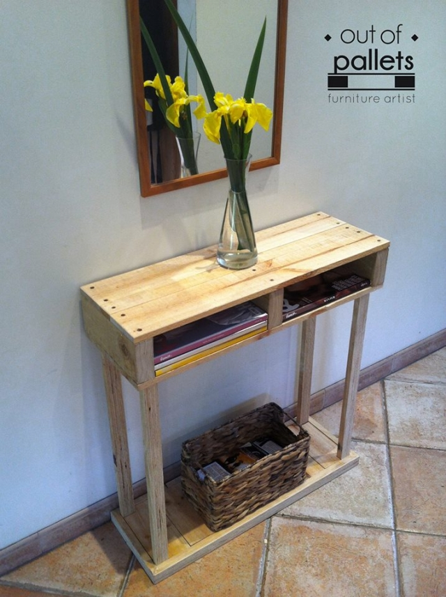 Pallet Side Table | Pallet Furniture Projects.