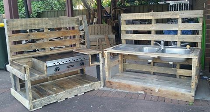 pallet wood kids play kitchens pallet furniture projects