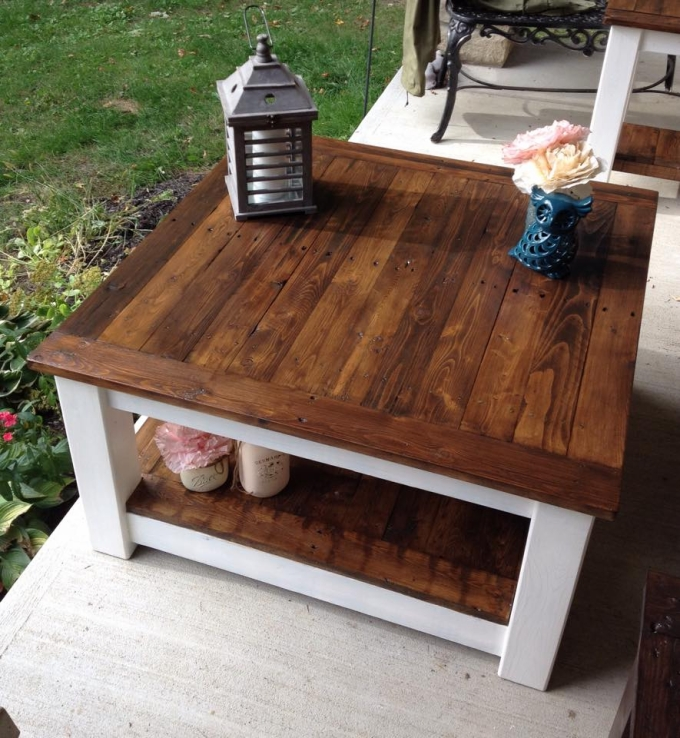 Upcycled Pallet Tables and Stool