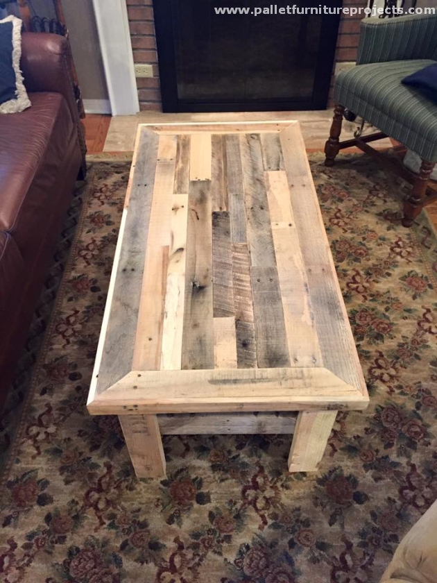 Coffee Table Made With Pallets Pallet Furniture Projects