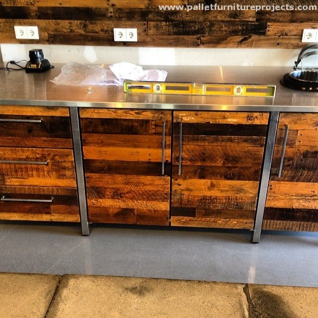 Kitchen Cabinets From Pallets pallet wood works in kitchen | pallet furniture projects.