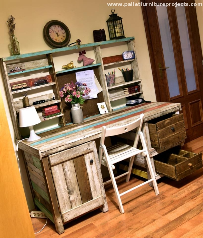 Oak Furniture Projects ~ Antique oak table from pallets wood pallet furniture