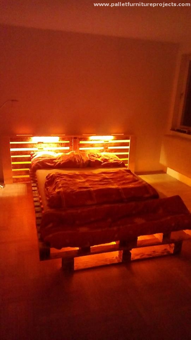 Stunning Pallet Bed Idea Pallet Furniture Projects