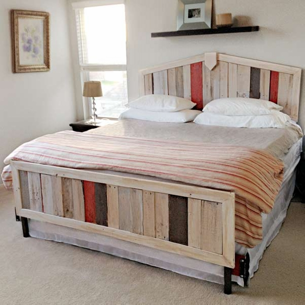Bed Made From Old Shipping Pallets