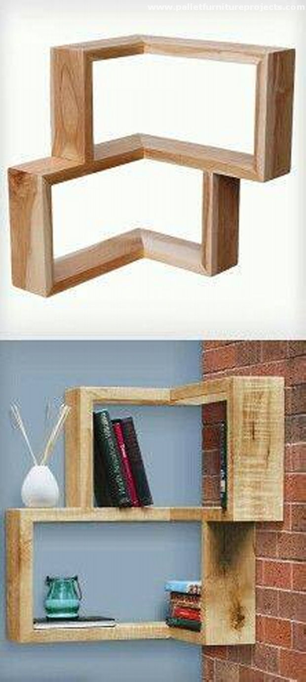 Useful Shelves Out Of Wooden Pallets Pallet Furniture
