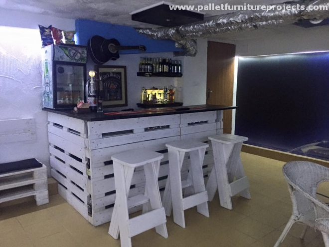 pallet bar bench bar furniture from wood pallets pallet furniture projects