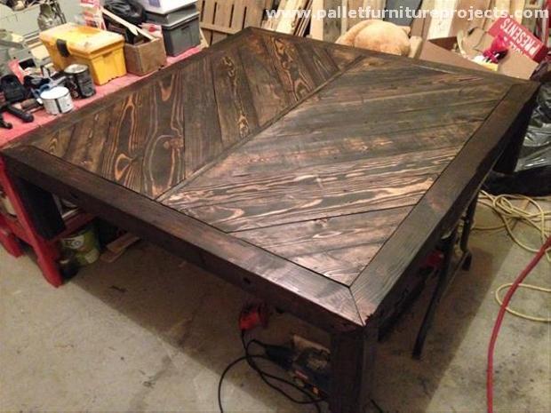 pallet chevron table ideas   pallet furniture projects.