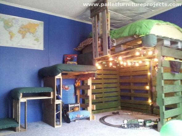 Pallet Loft Bed