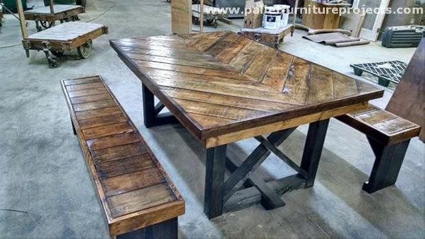 table a manger en palette home design architecture. Black Bedroom Furniture Sets. Home Design Ideas