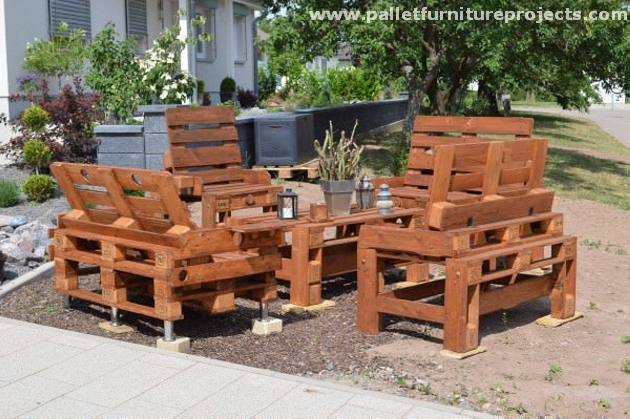 Pallet Outdoor Furniture Sets Pallet Furniture Projects