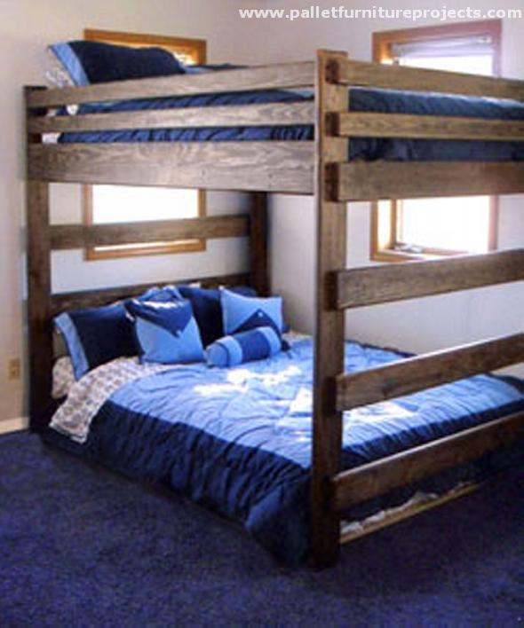 Pallet Wooden Bunk Bed