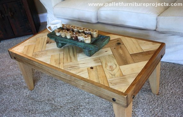 Pallet Chevron Table Ideas Pallet Furniture Projects