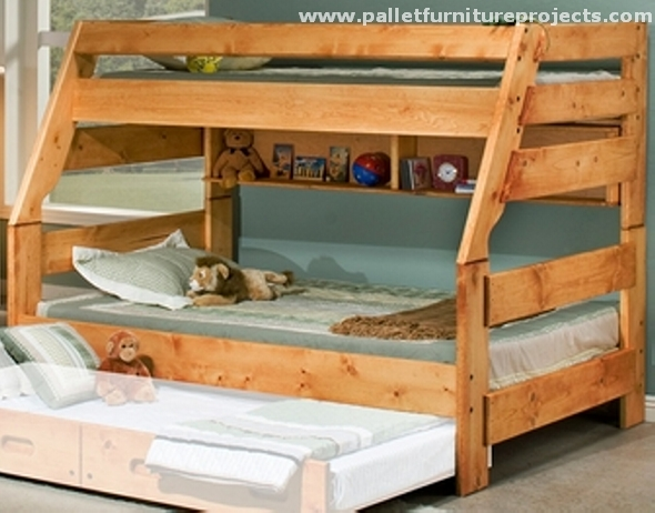 Pallet Bunk Bed Projects | Pallet Furniture Projects.