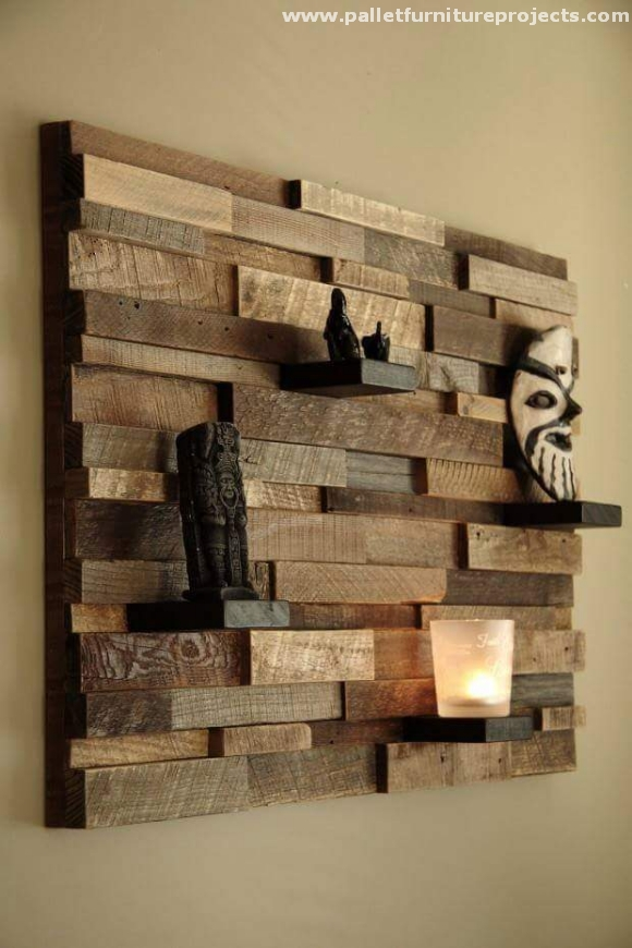 Ideas For Recycled Pallet Shelves Furniture Projects