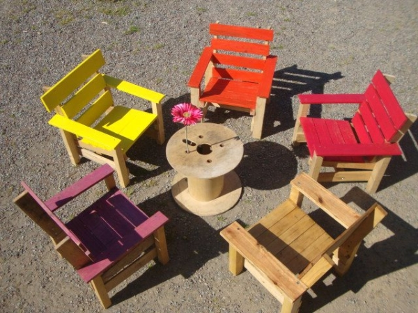 Kids projects with wood pallets pallet furniture projects - Sofas con palets para jardin ...