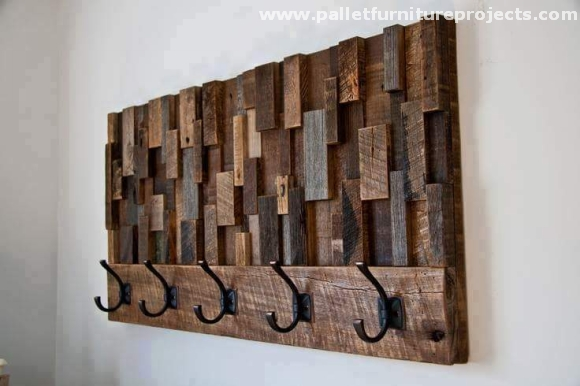 Ideas for recycled pallet shelves pallet furniture projects for Reclaimed pallet wood projects