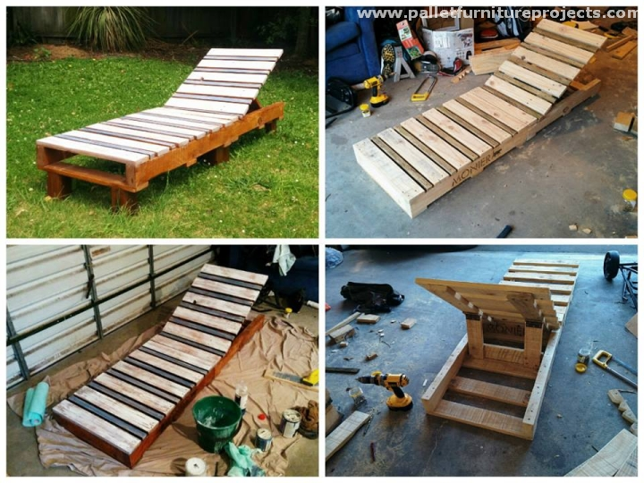 Pallet sun lounger ideas pallet furniture projects - Chaise longue en palette bois ...