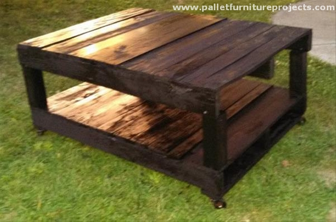 Upcycled pallet tables pallet furniture projects - How to make a table from pallets ...