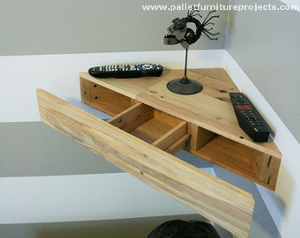 Pallet Corner Shelf Ideas Furniture Projects