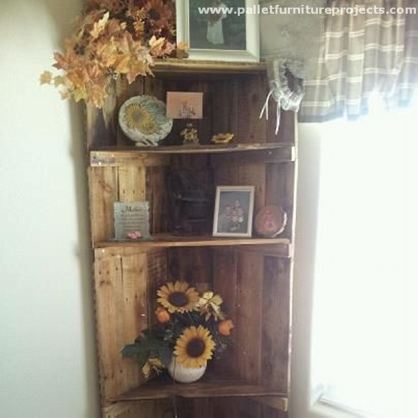 how to make shelves out of pallets