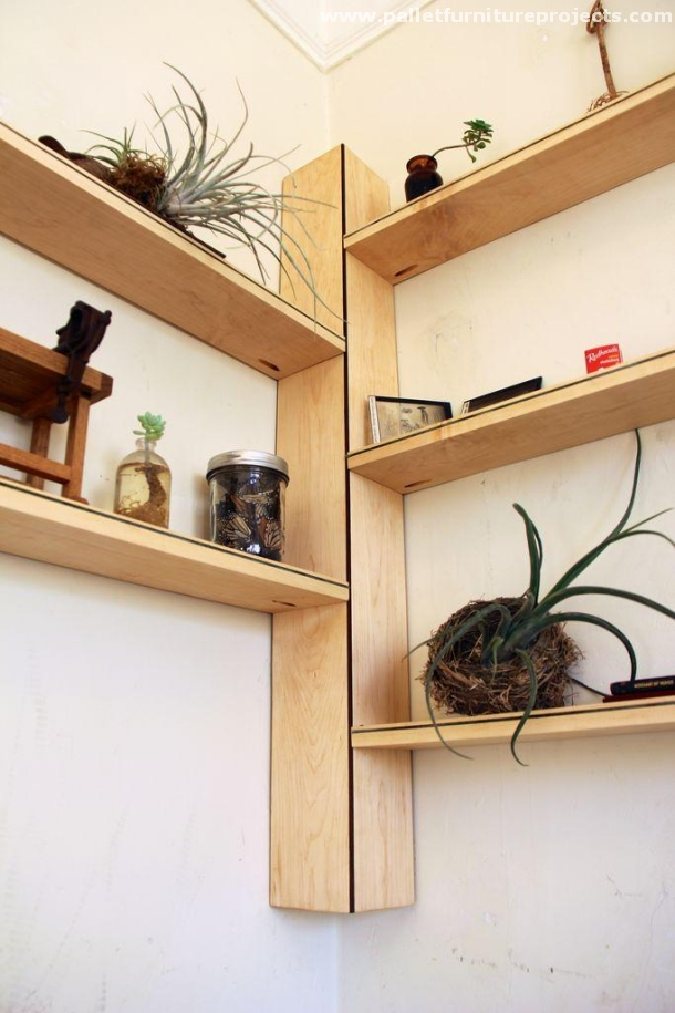 Things To Make With Pallets Wall Shelves