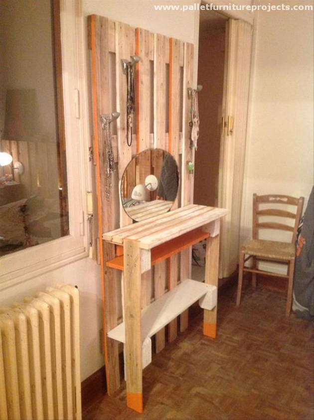 Pallet Vanity Mirror Ideas Pallet Furniture Projects