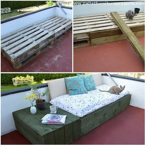 Upcycled Pallet Daybed Ideas | Pallet Furniture Projects.
