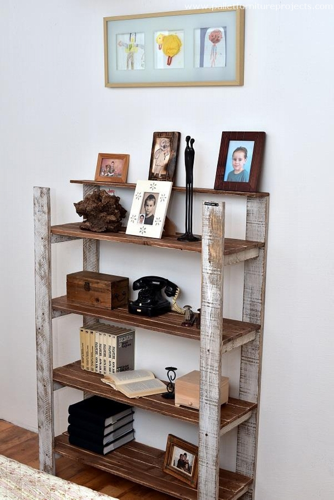 Vintage Wooden Pallet Shelf