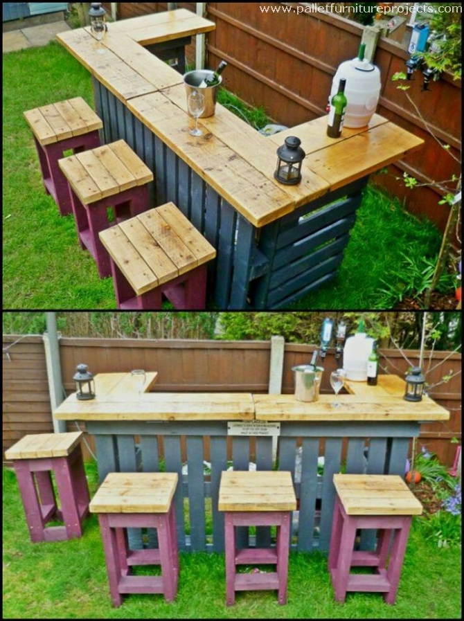 bars made with wood pallets pallet furniture projects