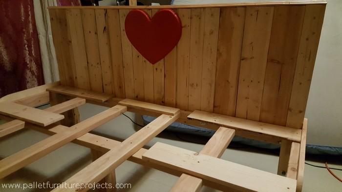 pallet bed frame headboard