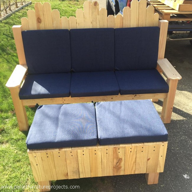 pallet couch and ottoman