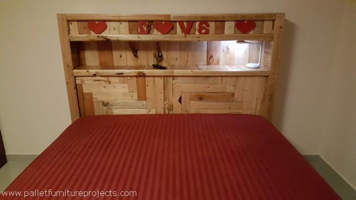pallet wood bed headboard