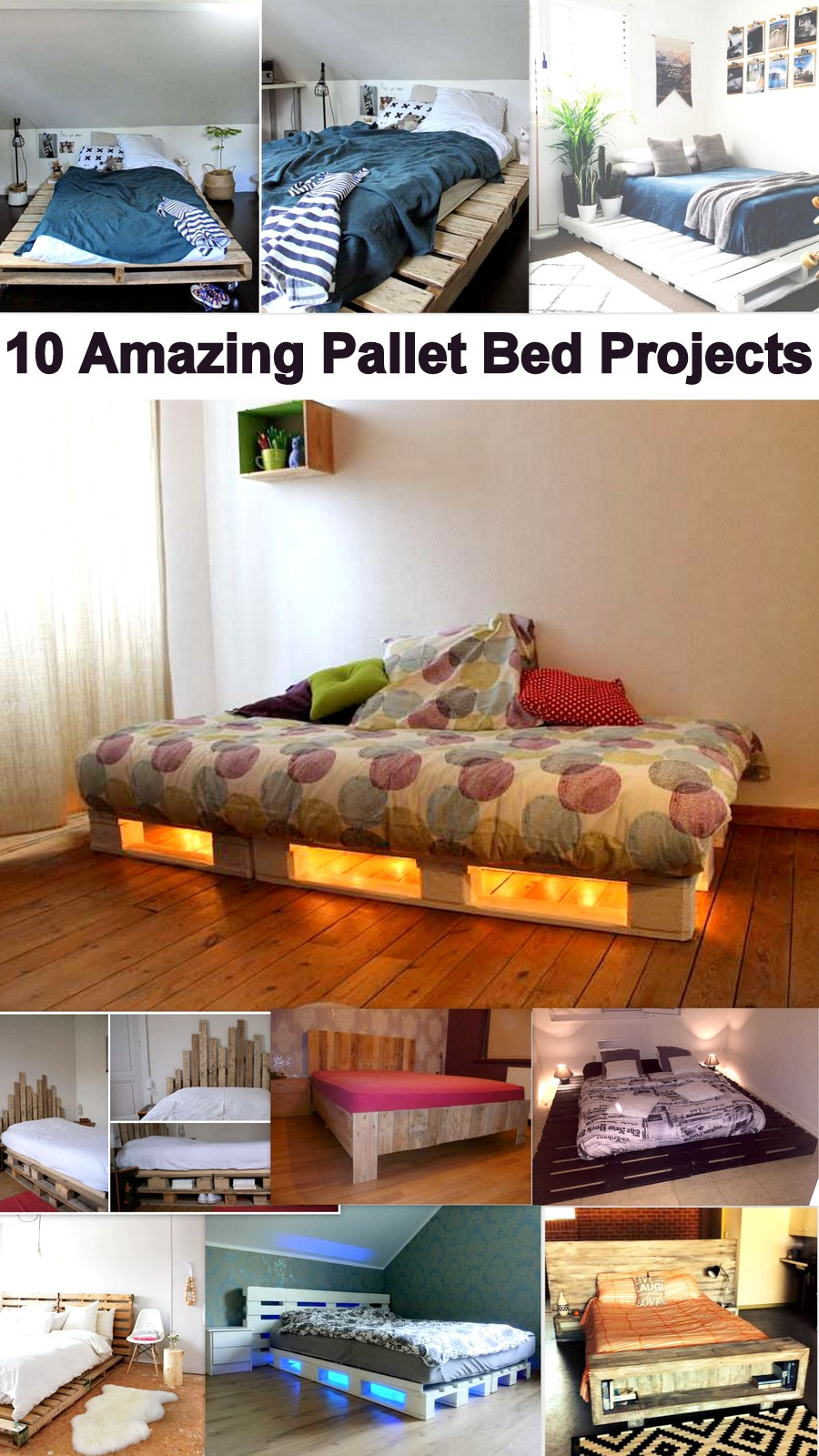 10 Amazing Pallet Bed Projects