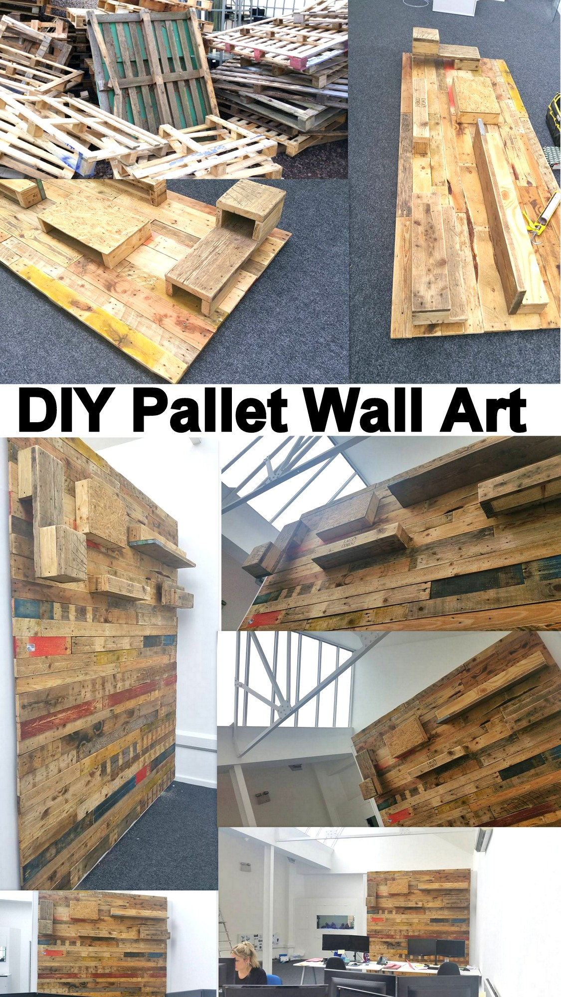 diy pallet wall art pallet furniture projects. Black Bedroom Furniture Sets. Home Design Ideas