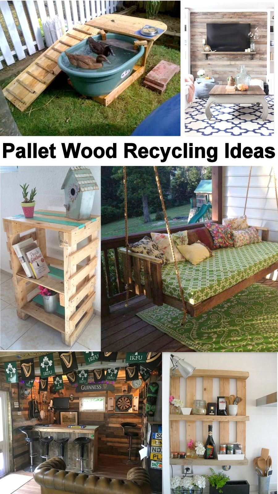 Pallet Wood Recycling Ideas Pallet Furniture Projects
