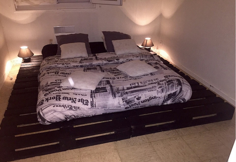 giant pallet wood bed