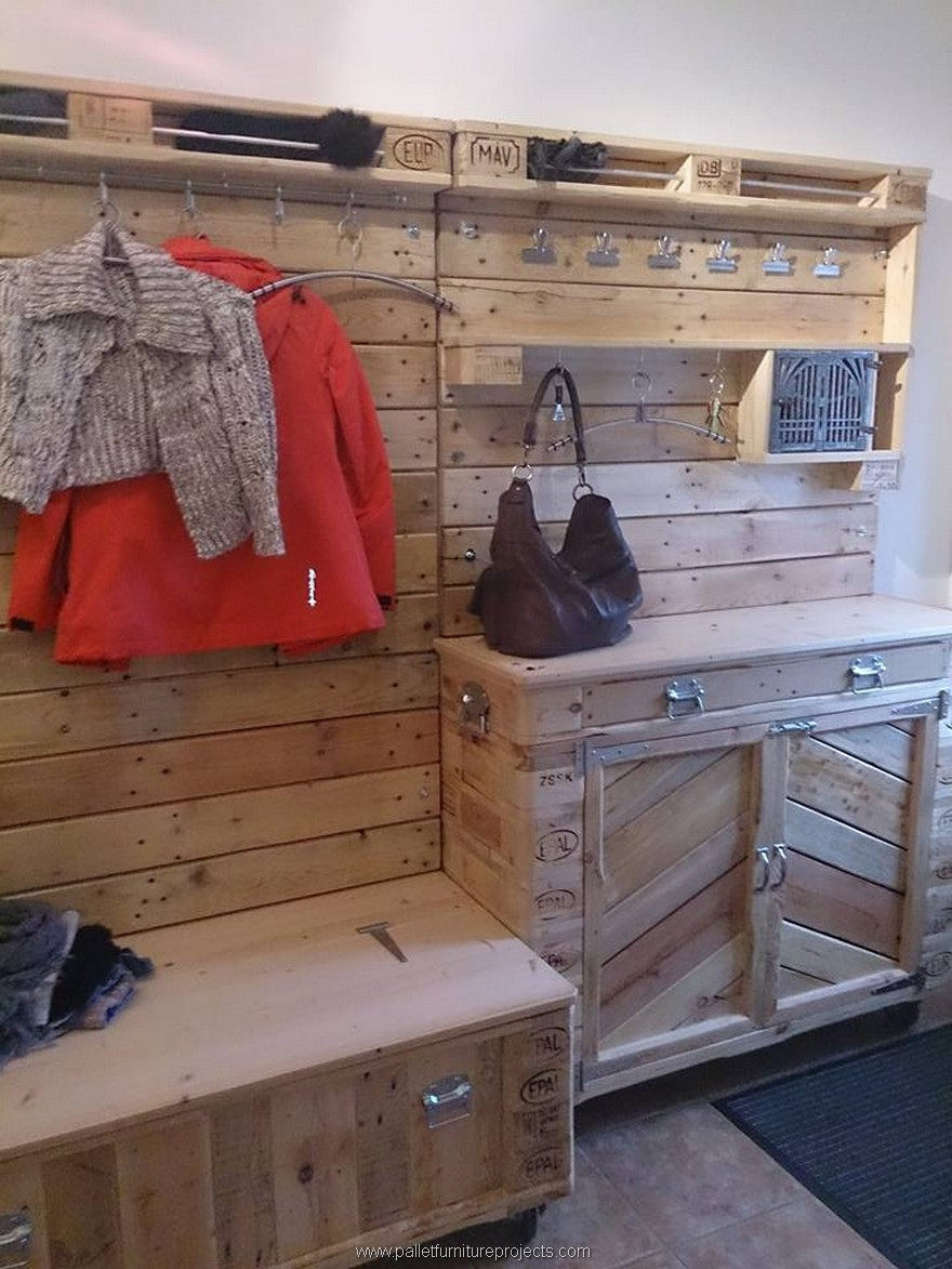 Pallet Vanity Cabinet Dressing Wardrobe Pallet