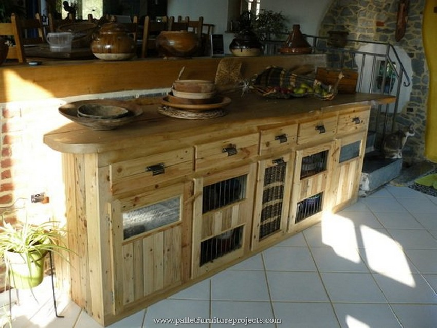 pallet kitchen island idea